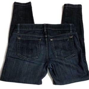 Joe's Skinny Size W27 Roll Cuff Chelsea Dark Wash